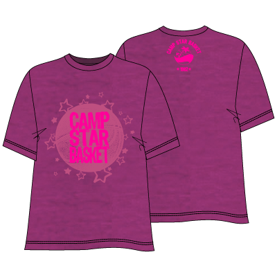 T-SHIRT ? ROSE CHINÉ & LOGO BICOLORE ROSE FLUO ★ 20€ ★